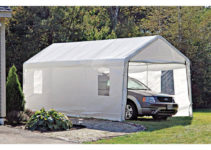Marvellous Home Improvement Shelter Logic Exciting Parts Facade Sample of Portable Garage Canopy Carport