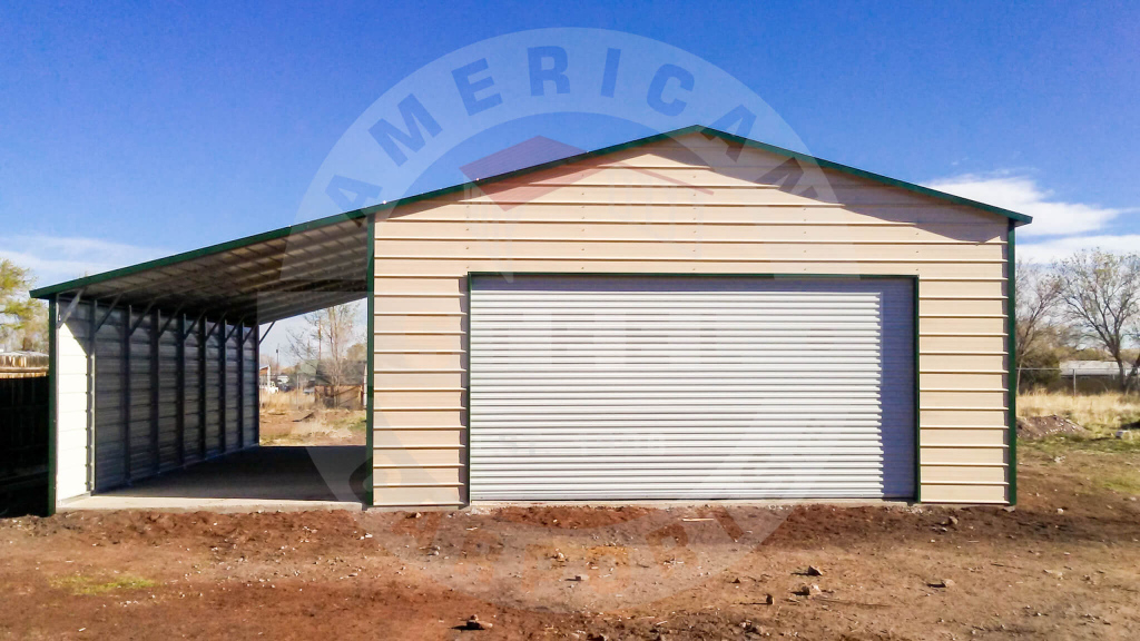 Metal Building With A Leanto  American Steel Carports Inc Image Example in American Steel Carport Sales