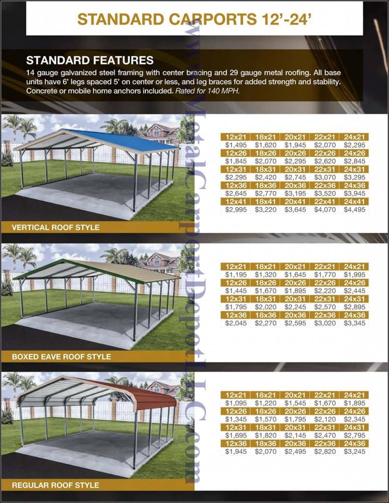 Metal Carport  Buildings  Florida Pricing  Metal Carport Photo Example of Metal Carport Prices