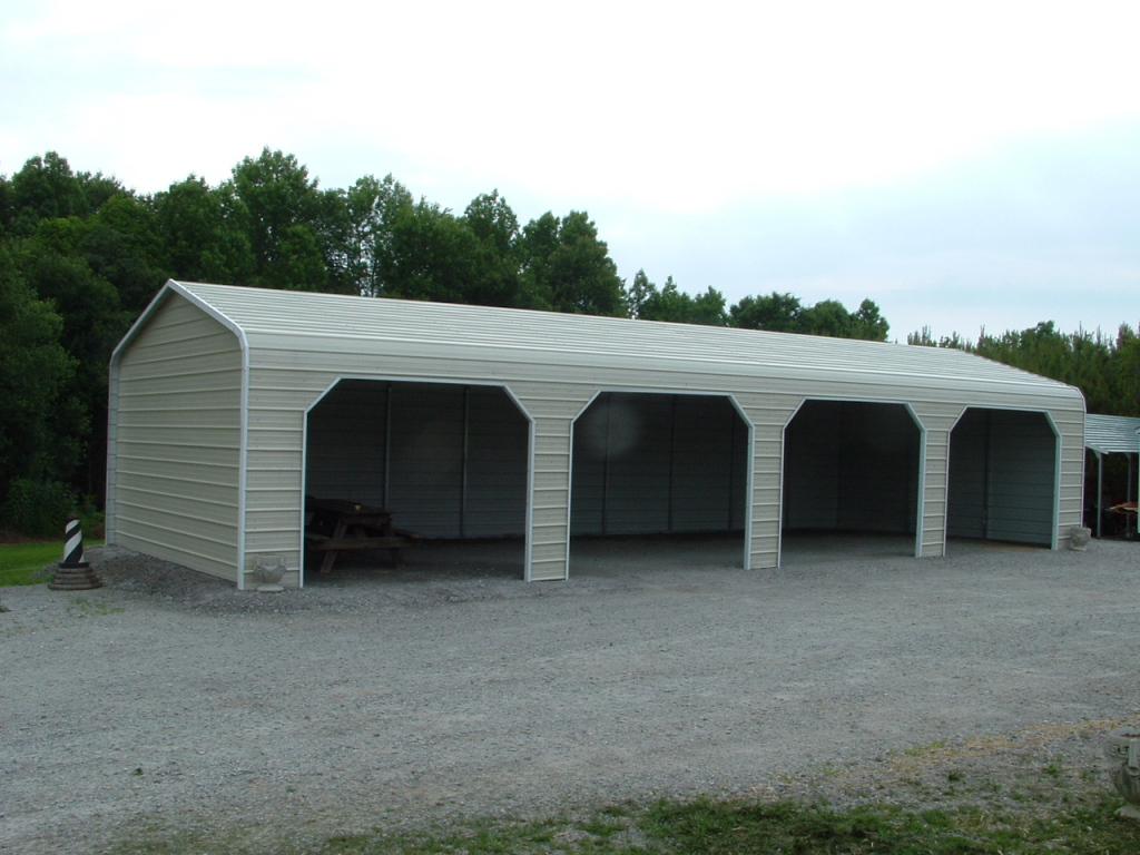 Metal Carport Garage Design — Mile Sto Style Decorations Facade Sample of Steel Carport With Sides