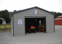 Metal Carport Garage Design — Mile Sto Style Decorations Photo Sample for Enclosed Metal Carport