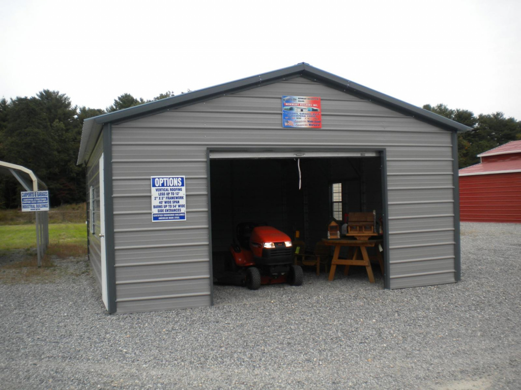 Metal Carport Garage Design — Mile Sto Style Decorations Picture Example of Enclosed Carport Kits