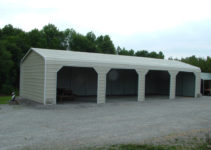 Metal Carport Garage Design — Mile Sto Style Decorations Picture Example of Garage With Carport On Side