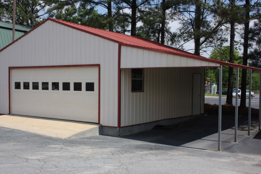 Metal Carports And Garages Ideas — Mile Sto Style Decorations Facade Sample for Plans For Steel Carport