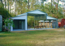 Metal Carports And Garages Ideas — Mile Sto Style Decorations Image Sample for Garage With Carport Ideas