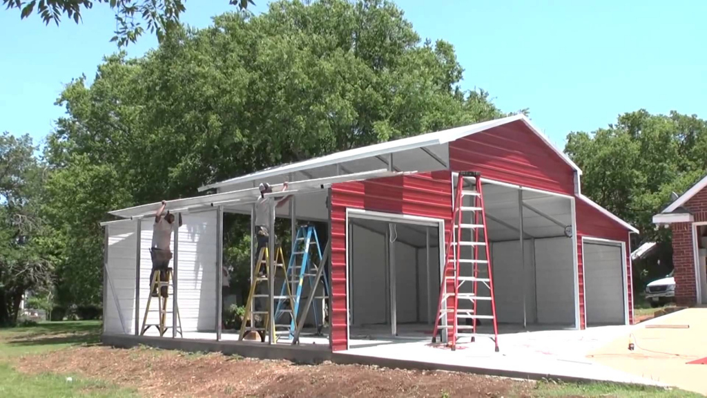 Metal Carports And Garages Ideas — Mile Sto Style Decorations Image Sample of Building A Metal Carport