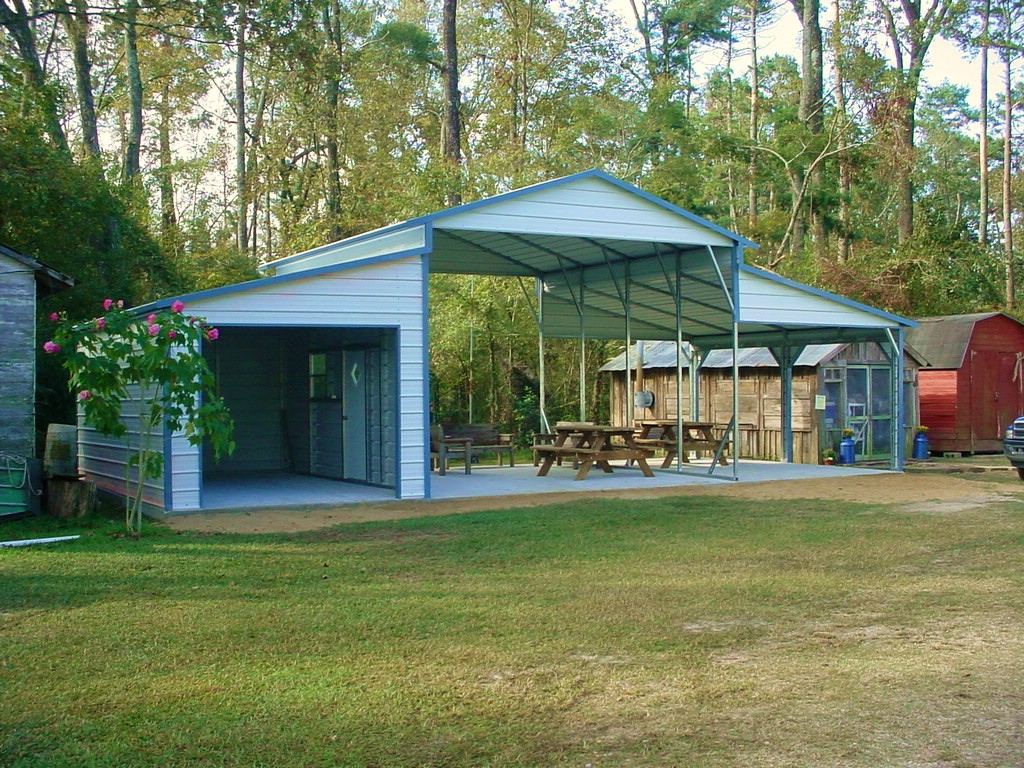 Metal Carports And Garages Ideas — Mile Sto Style Decorations Picture Sample in Metal Carport Do It Yourself