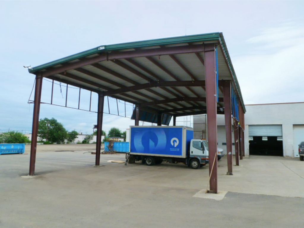 Metal Carports  Easy To Assemble Steel Carport Kits Facade Example in How To Assemble A Metal Carport