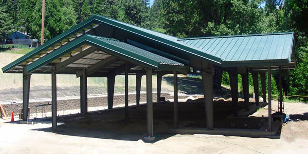 Metal Carports  Easy To Assemble Steel Carport Kits Image Example for How To Build A Metal Carport
