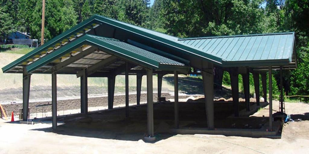 Metal Carports  Easy To Assemble Steel Carport Kits Picture Sample for How To Repair Metal Carport Roof
