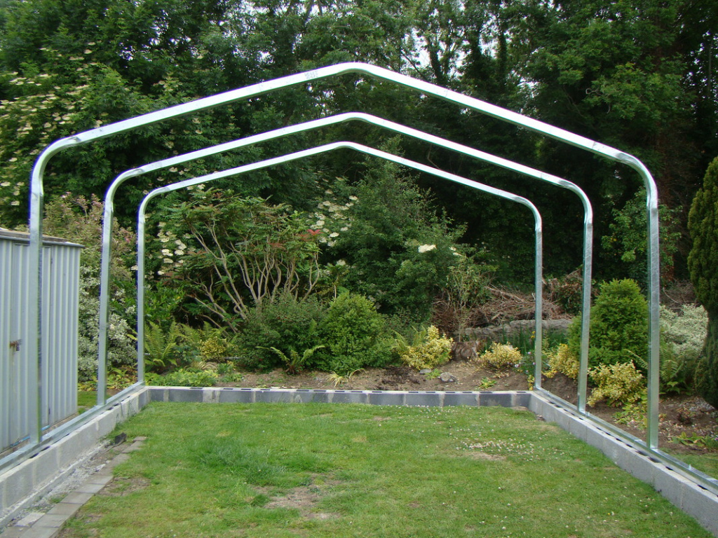 Metal Carports Installation  The Best Carports Picture Sample of Metal Carport Installation
