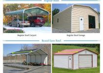 Metal Garages For Sale  Free Installation Of Steel Garage Facade Example for Prefab Metal Carport