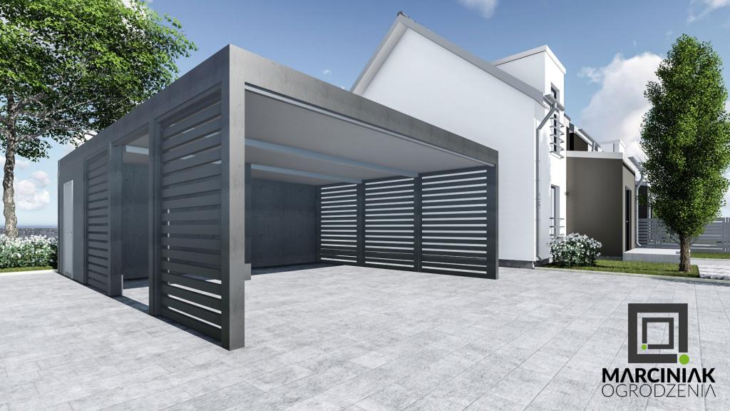 Metall Carport Bausatz Aus Polen – Metall Carports Aus Image Example for Metal Carport With Shop