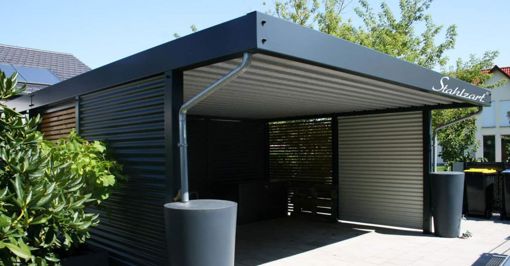 Metall Carport Doppelcarport Frankfurt · Abstellraum · Stahl Picture Example for Metal Carport Designs