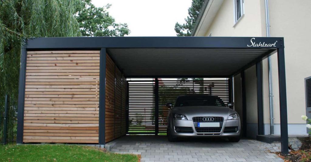 Metall Carport Stuttgart· Stahlcarport · Design · Holz Image Example in Metal Carport Designs