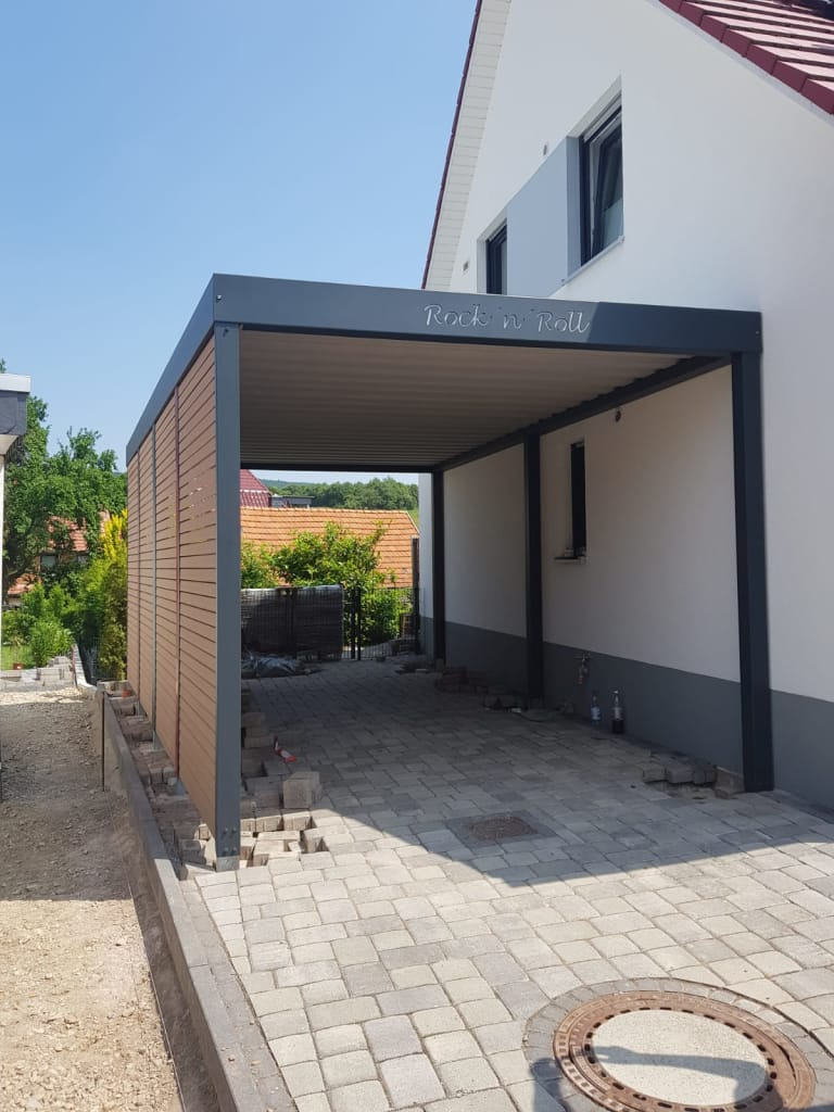 Metallcarport  Stahlcarport  Carport Individuell Und Picture Sample in Modern Carport Designs