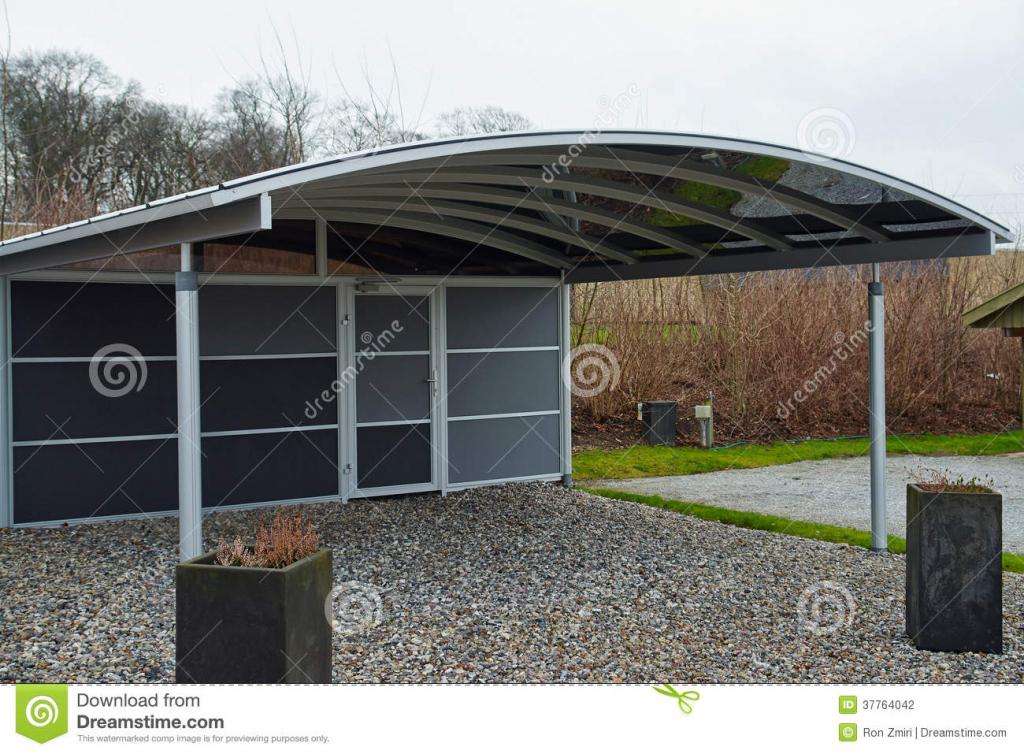 Modern Carport Car Garage Parking Stock Photo  Image Of Picture Sample for Garage Carport Ideas
