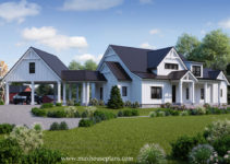 Modern Farmhouse House Plan  Max Fulbright Designs Picture Sample in Modern Farmhouse Carport