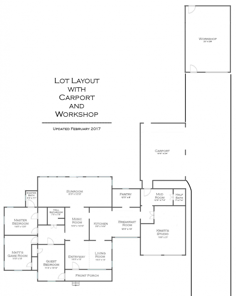 My Preliminary Carport And Workshop Plan  Addicted 2 Facade Sample of House Plans With Carport In Back