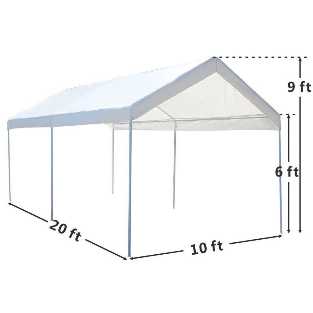 Outdoor Carport Tent 10 X 20 Facade Sample in 10 X 20 Canopy Carport
