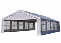Outsunny 20' X 32' Large Outdoor Carport Canopy Party Tent With Removable  Sidewalls  White Facade Sample of Carport Canopy Walmart
