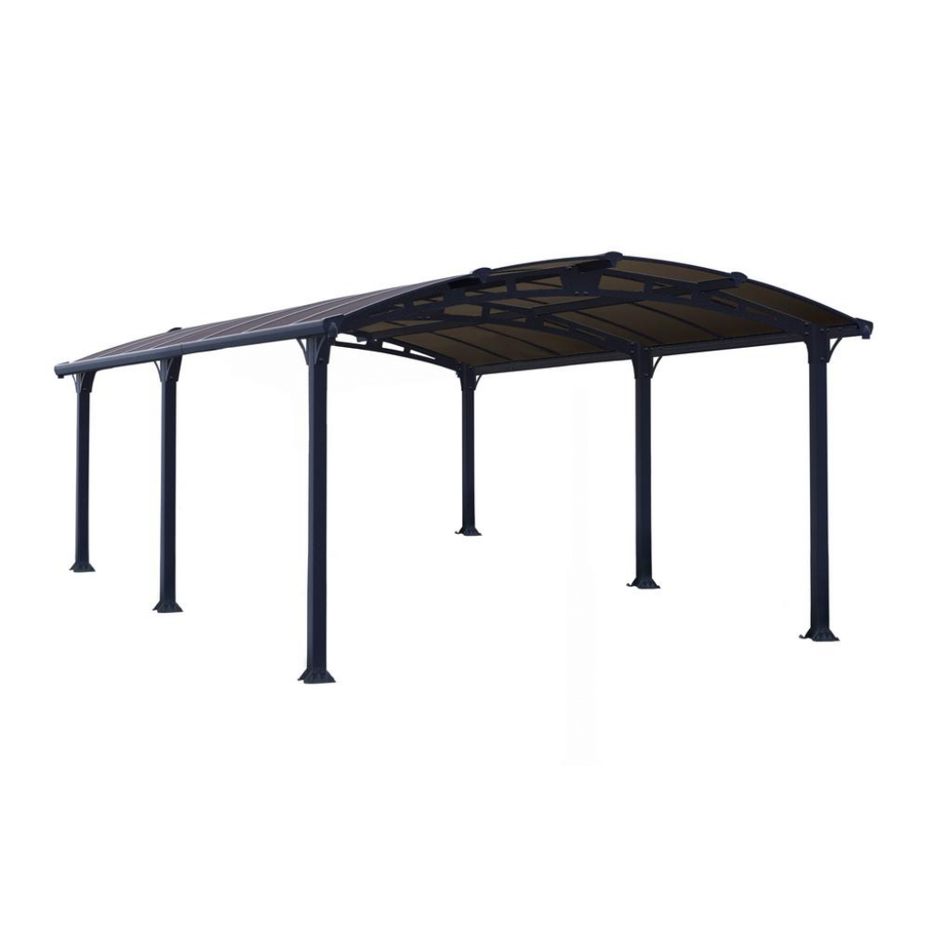 Palram Arcadia 5000 12 Ft X 16 Ft Carport Car Canopy And Shelter Picture Example of Outdoor Canopy Carport
