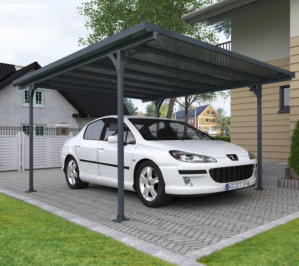 Palram Carport Verona 5000 Inkl Regenrinnen Und Befestigungskit Picture Sample of 3 Car Metal Carport