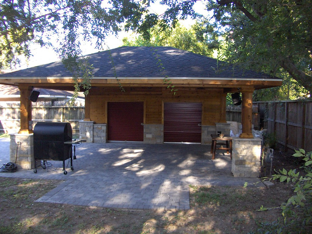 Paver Driveway With Carport And Storage 4  Scott Ward  Flickr Photo Sample in Wood Carport With Storage
