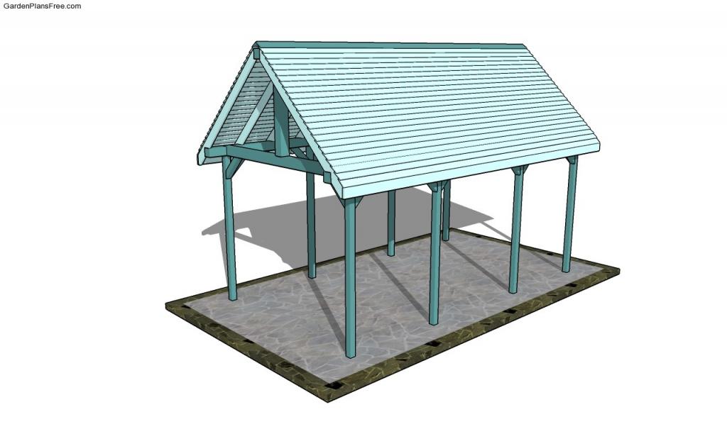 Plans Attached Carport Outdoor Pavilion  House Plans  80138 Picture Example for Build Attached Carport