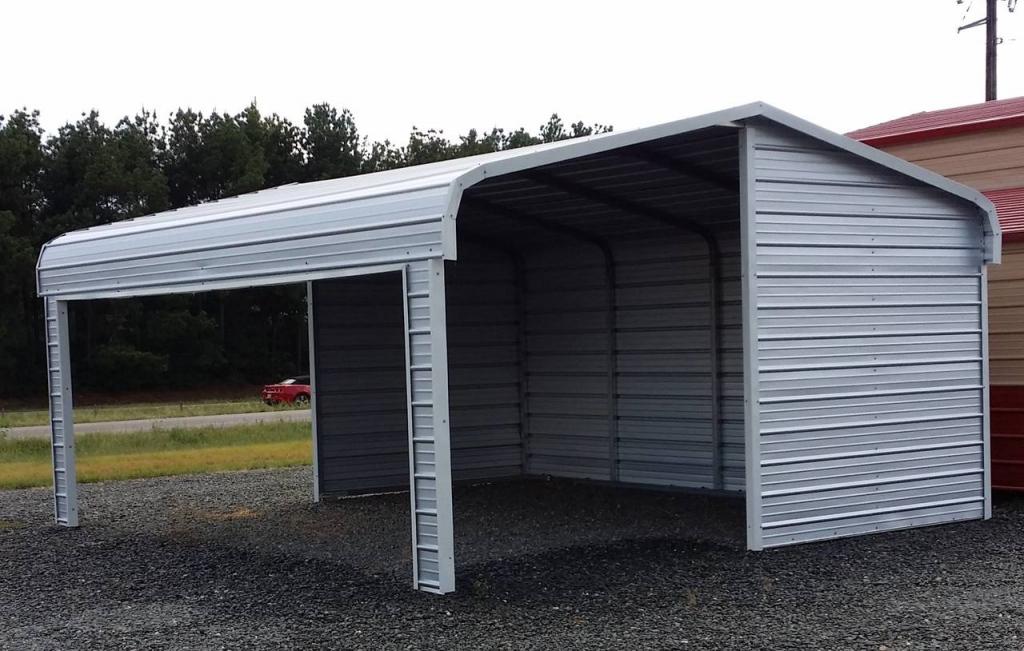 Portable Carports Kits Partial Enclosed Metal Temporary Facade Example of Enclosed Carport Kits