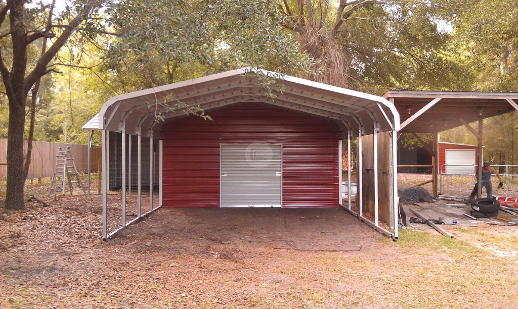 Portable Metal Garages Styles — Mile Sto Style Decorations Image Sample for Portable Enclosed Carport