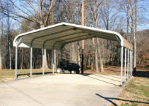 Portable Metal Garages Styles — Mile Sto Style Decorations Image Sample in Double Metal Carport