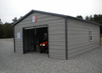 Portable Metal Garages Styles — Mile Sto Style Decorations Picture Example for Portable Enclosed Carport