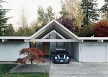 Portland Mid Century Modern House Carport  Mid Century Home Photo Sample for Mid Century Modern Carport