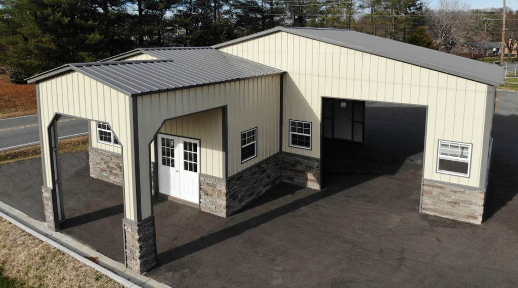 Preengineered Steel Buildings  Metal Carports  Barns Picture Example of Prefab Metal Carport