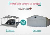 Prefab Steel Carports Vs Garages  Carport1  Medium Facade Example in Metal Carport Options