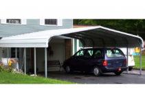 Rhino Shelter® St222412H  22' W X 24' L X 12' H Steel Carport House Image Example in Rhino Shelter Steel Carport