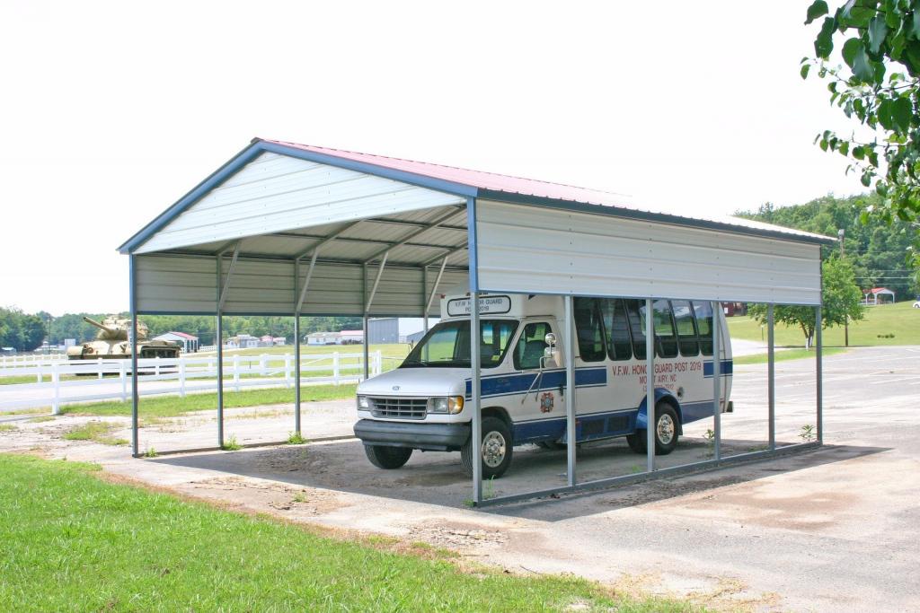 Rv Carports Alabama  Metal Motor Home Covers Alabama Facade Example of Metal Carport Utah
