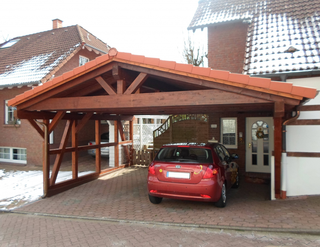 Satteldachcarport  Carportunion Image Sample in 24 By 24 Metal Carport