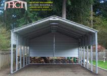 Seattle Steel Metal Carports  Hci Steel Building Steel Image Sample of Metal Carport Kits Washington State