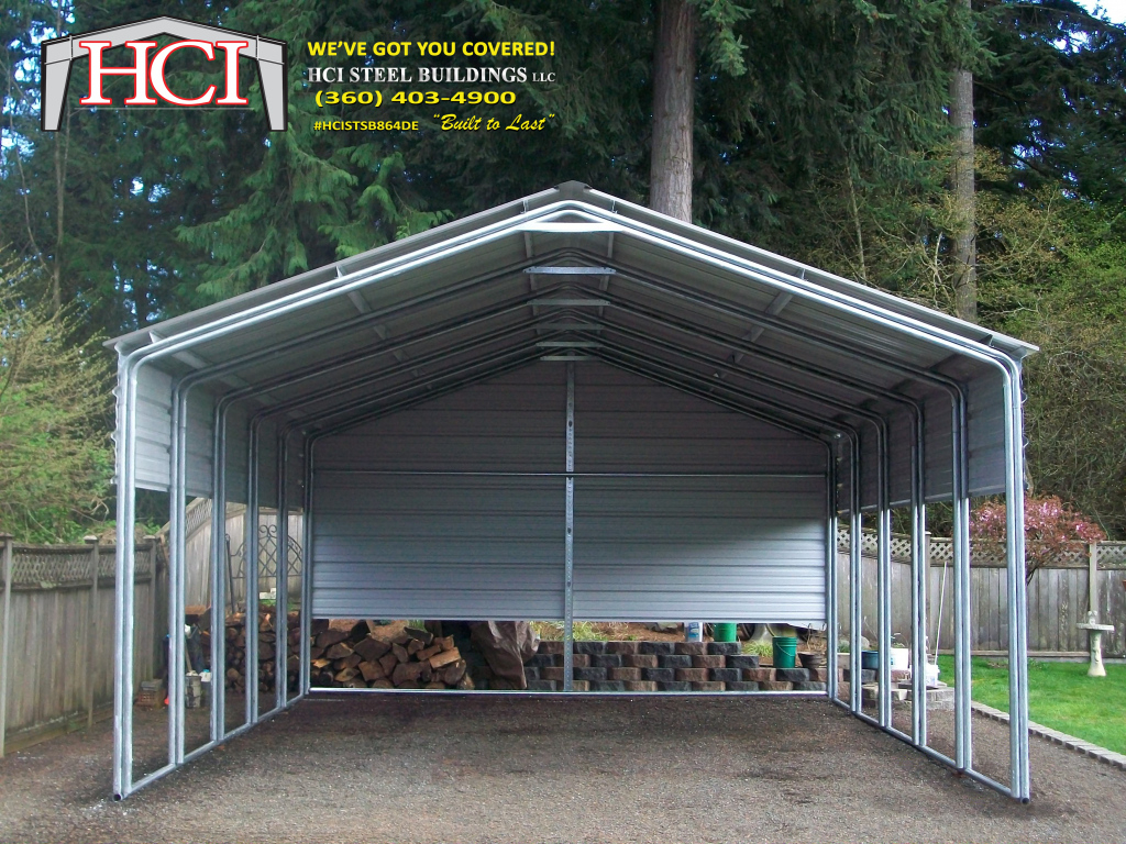 Seattle Steel Metal Carports  Hci Steel Building Steel Photo Example of How To Build A Metal Carport