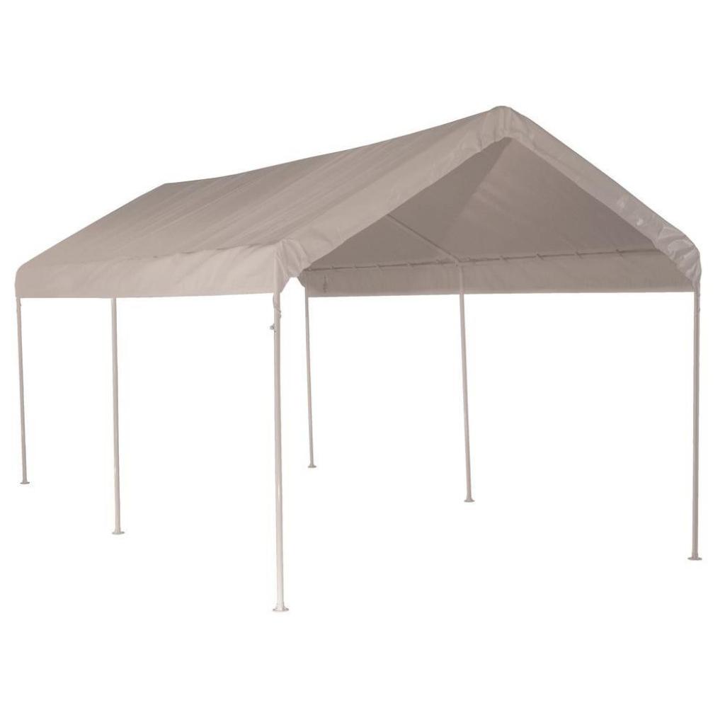 Shelterlogic 10 Ft W X 20 Ft D Max Ap Allpurpose 6Leg Canopy In White  With Industrialgrade Slipfit Steel Frame Image Example of King Canopy 10 X 20 Ft Canopy Carport 6 Legs