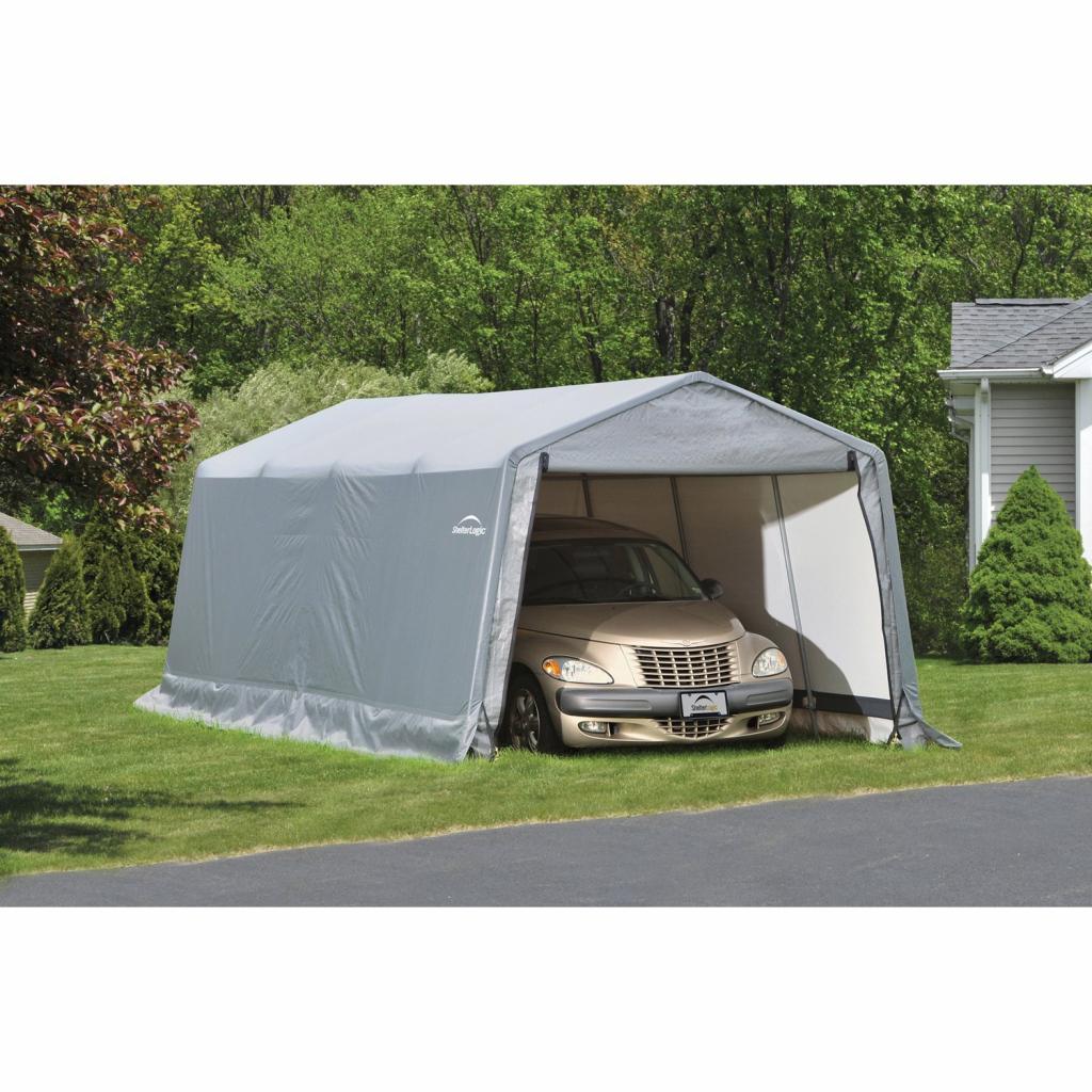Shelterlogic Garage 183 M² Grau 300 Cm X 610 Cm Photo Example of Shelterlogic Portable Garage Canopy Carport 10' X 20'