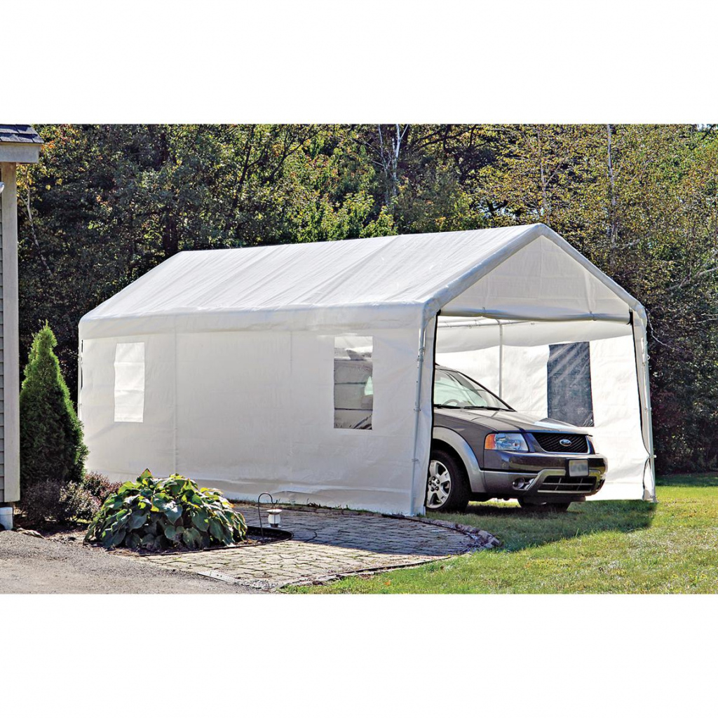 Shelterlogic Portable Garage Canopy Carport 10' X 20 Picture Example of Shelterlogic 10X20 Canopy Carport