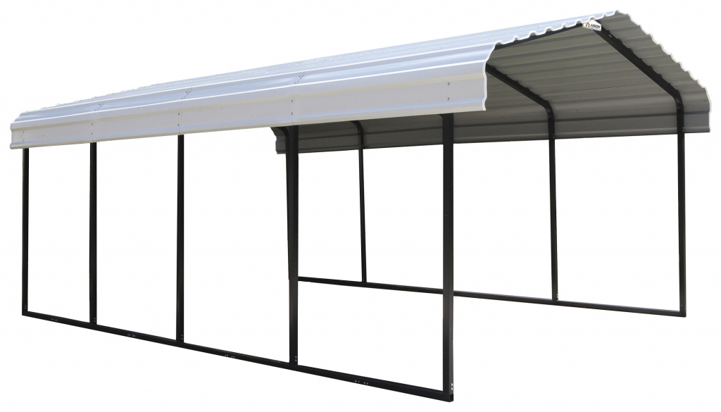 Shelterlogic Steel Carport 12'x20'x7' Blackeggshell  Walmart Image Sample in Metal Carport 12X20