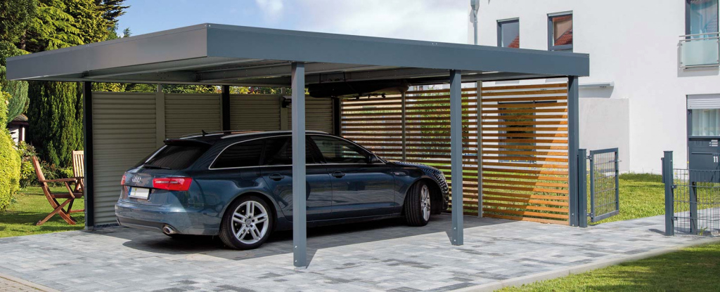 Siebaudoppelcarport  Carceffo  Moderne Carports  Garagen Picture Sample of Large Metal Carport