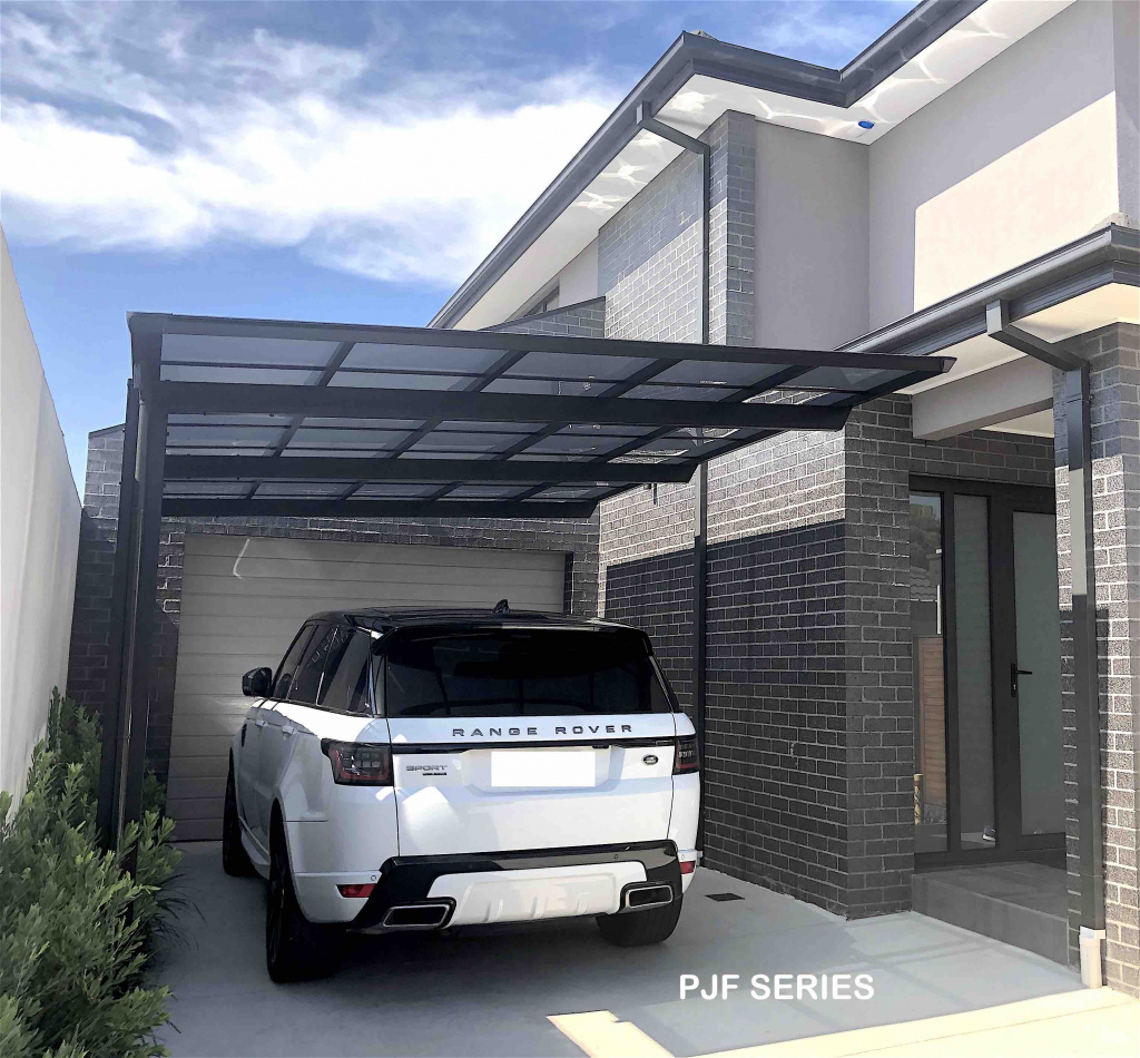 Single Cantilever  Cantaport Picture Sample for Residential Cantilever Carport