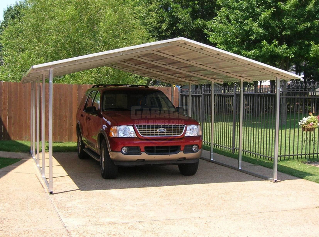 Single Car Carports  One Car Metal Carports For Sale Online Picture Sample of Enclosed Carport Kits