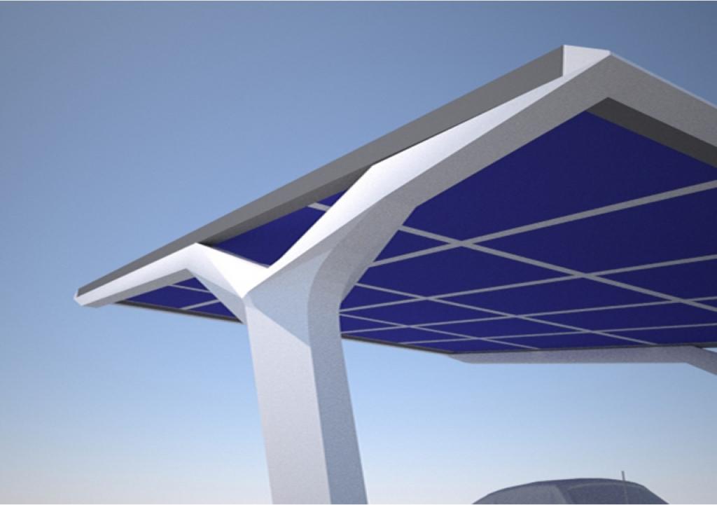 Solar Carport For Pct Dubai  Grobearchitektende Facade Example in Solar Carport Design