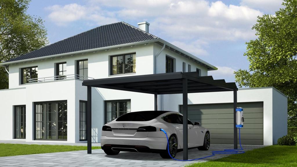 Solar Carport  Solar Pergola  Shadow Solar Evolution  Irfts Photo Sample of Residential Solar Carport Kit